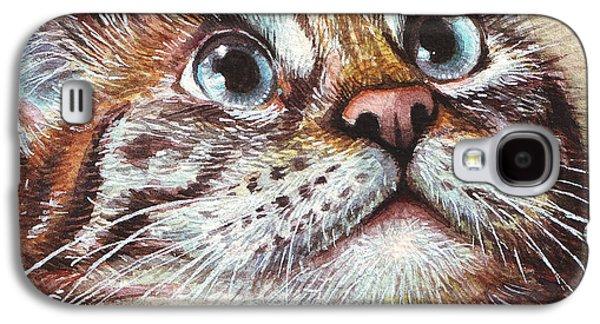 Surprised Kitty Galaxy S4 Case by Olga Shvartsur