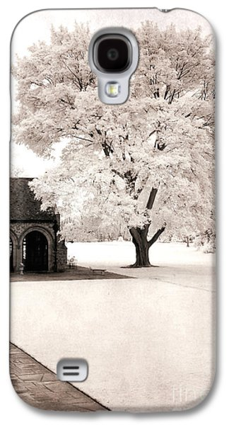 Surreal Landscape Galaxy S4 Cases - Surreal Dreamy Ethereal Winter White Sepia Infrared Nature Tree Landscape Galaxy S4 Case by Kathy Fornal