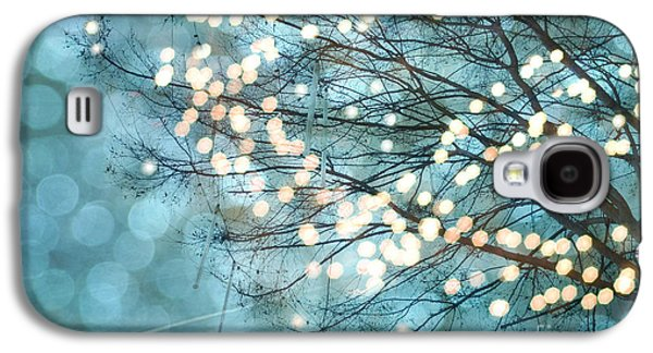 Recently Sold -  - Surreal Landscape Galaxy S4 Cases - Surreal Dreamy Twinkling Fantasy Sparkling Aqua Teal Blue Bokeh Nature  Galaxy S4 Case by Kathy Fornal