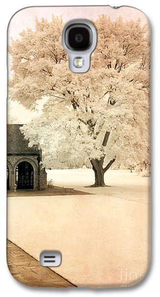 Surreal Landscape Galaxy S4 Cases - Surreal Ethereal Infrared Sepia Nature Landscape Galaxy S4 Case by Kathy Fornal