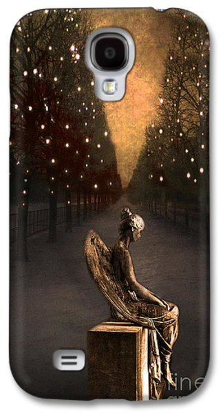 Night Angel Galaxy S4 Cases - Surreal Gothic Haunting Emotive Paris Angel Art  Galaxy S4 Case by Kathy Fornal