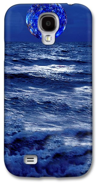 Sea Moon Full Moon Galaxy S4 Cases - Surreal Planet Rising Over Blu Waters Galaxy S4 Case by Christian Lagereek