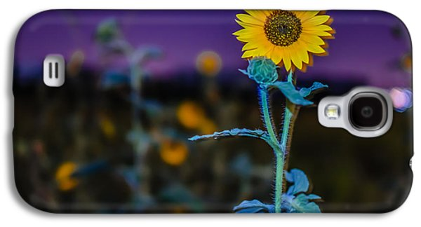 Sunflower Patch Galaxy S4 Cases - Surreal Summer Sunflower Sprout Galaxy S4 Case by Brett Smith