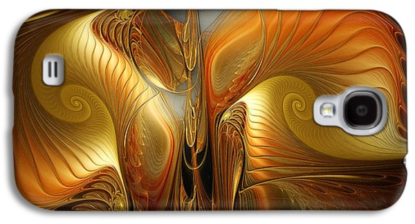 Mathematical Design Galaxy S4 Cases - Surrealistic Landscape-Fractal Design Galaxy S4 Case by Karin Kuhlmann