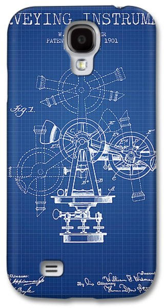 Surveying Galaxy S4 Cases - Surveying Instrument Patent from 1901 - Blueprint Galaxy S4 Case by Aged Pixel