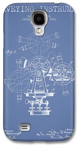 Surveying Galaxy S4 Cases - Surveying Instrument Patent from 1901 - Light Blue Galaxy S4 Case by Aged Pixel