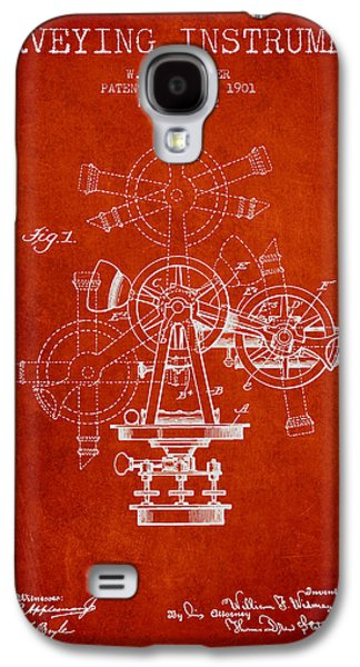 Surveying Galaxy S4 Cases - Surveying Instrument Patent from 1901 - Red Galaxy S4 Case by Aged Pixel