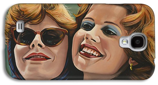 Realistic Art Paintings Galaxy S4 Cases - Susan Sarandon and Geena Davies alias Thelma and Louise Galaxy S4 Case by Paul  Meijering