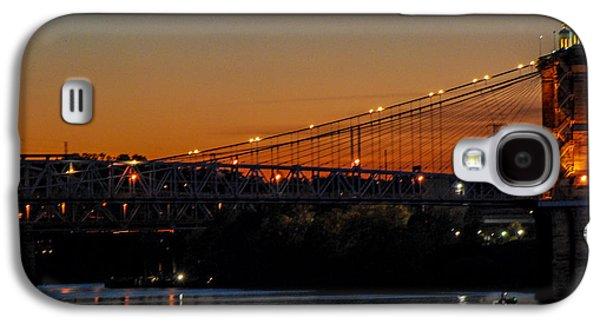 A Summer Evening Landscape Galaxy S4 Cases - Suspension Bridge Galaxy S4 Case by Mary Carol Story