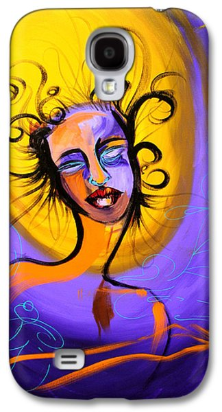 Spiritual Portrait Of Woman Mixed Media Galaxy S4 Cases - Suspension Galaxy S4 Case by Demostina of Demo Graph Phonics