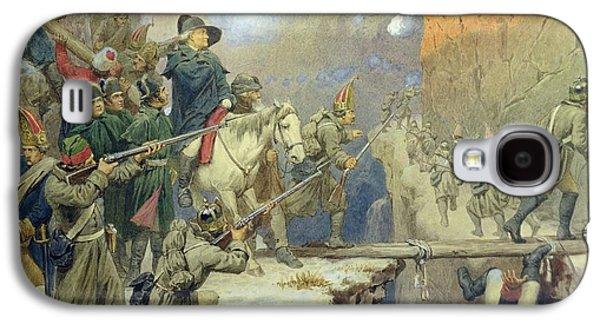 Bayonet Galaxy S4 Cases - Suvorov Crossing The Devils Bridge In 1799, 1880 Wc On Paper Galaxy S4 Case by Aleksei Danilovich Kivshenko