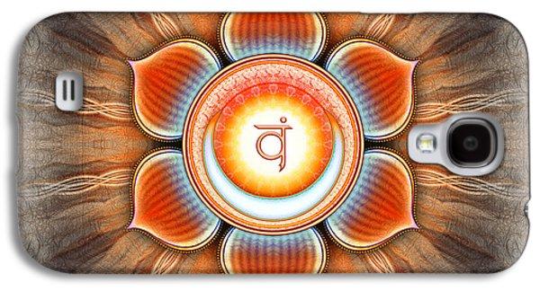 Healing Posters Galaxy S4 Cases - Svadhisthana Chakra Series IV Galaxy S4 Case by Dirk Czarnota
