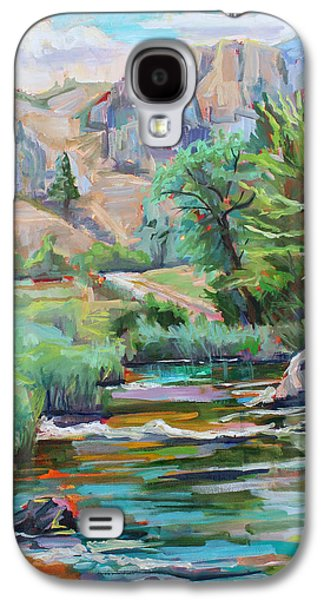 Poudre Galaxy S4 Cases - Swallow Tail River Canyon  plein air Galaxy S4 Case by Marie Massey