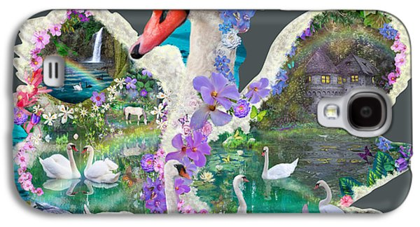 Swans... Galaxy S4 Cases - Swan Day Dream Galaxy S4 Case by Alixandra Mullins