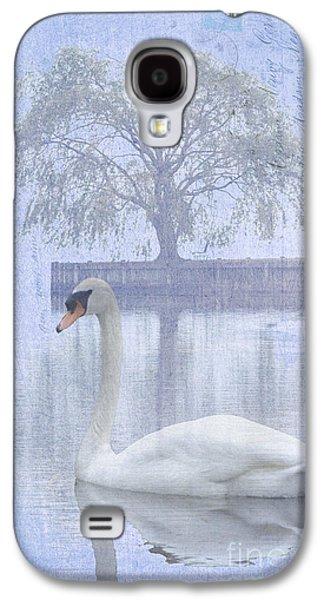 Waterscape Mixed Media Galaxy S4 Cases - Swan Lake by a Tree Galaxy S4 Case by ArtyZen Studios - ArtyZen Home
