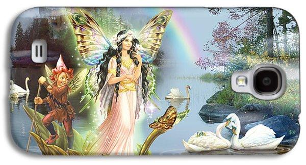Fantasy Photographs Galaxy S4 Cases - Swan Lake Fairy Galaxy S4 Case by Zorina Baldescu