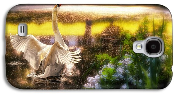 Photo Manipulation Galaxy S4 Cases - Swan Lake Galaxy S4 Case by Lois Bryan