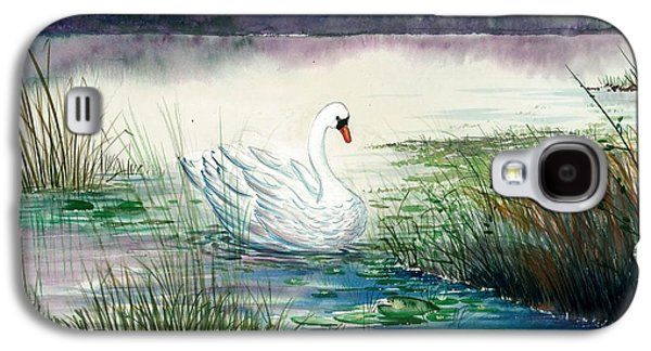 Swans... Paintings Galaxy S4 Cases - Swan Lake Galaxy S4 Case by Steven Schultz