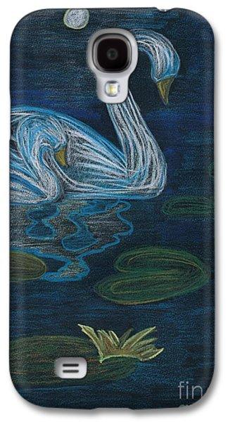 Mix Medium Drawings Galaxy S4 Cases - Swan Galaxy S4 Case by Matteo TOTARO