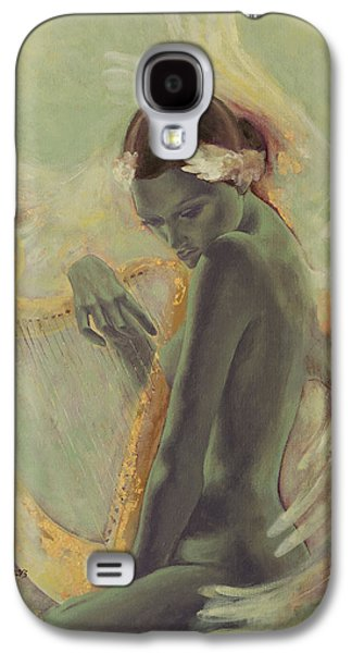 Swans... Paintings Galaxy S4 Cases - Swan Song Galaxy S4 Case by Dorina  Costras