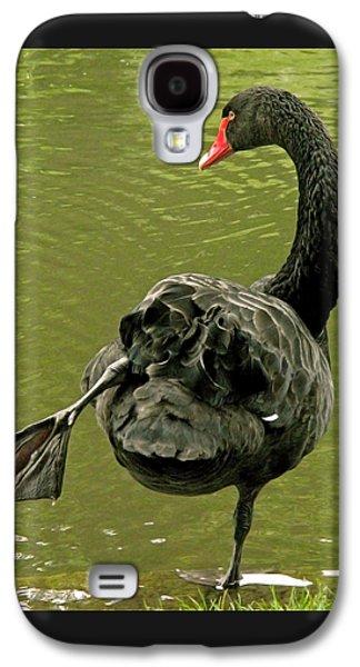 Swan Yoga Galaxy S4 Case by Rona Black