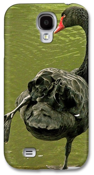 Best Sellers -  - Green Galaxy S4 Cases - Swan Yoga Galaxy S4 Case by Rona Black