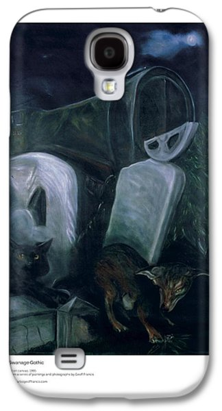 Headstones Paintings Galaxy S4 Cases - Swanage Gothic Galaxy S4 Case by Artist Geoff Francis