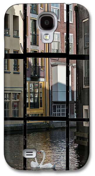 Business Galaxy S4 Cases - Swans love Amsterdam Galaxy S4 Case by Joan Carroll