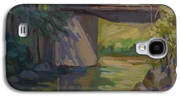 Early Spring Paintings Galaxy S4 Cases - Swauk Creek Early Spring Galaxy S4 Case by Diane McClary