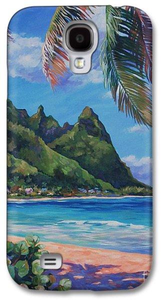 Botanical Galaxy S4 Cases - Swaying Palm on Makua Beach Galaxy S4 Case by John Clark
