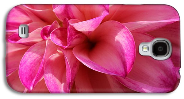 Pinks And Purple Petals Photographs Galaxy S4 Cases - Sweet Dahlia Galaxy S4 Case by Rachel Cohen