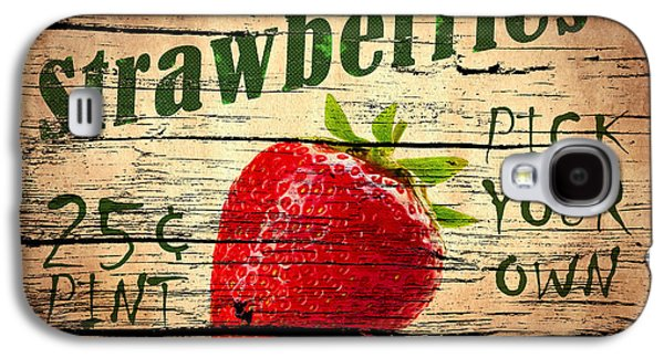 Juice Galaxy S4 Cases - Sweet Juicy Strawberries Galaxy S4 Case by Mark Rogan