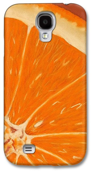 Nature Abstract Pastels Galaxy S4 Cases - Sweet Orange Galaxy S4 Case by Anastasiya Malakhova
