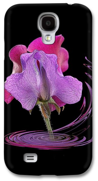 Pinks And Purple Petals Photographs Galaxy S4 Cases - Sweet Pea Carousel Square Galaxy S4 Case by Gill Billington