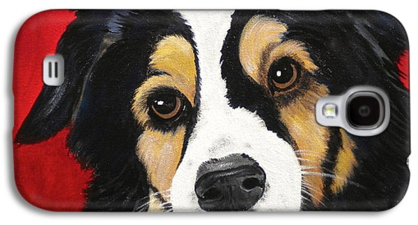 Dog Close-up Paintings Galaxy S4 Cases - Sweet Scout Galaxy S4 Case by Debi Starr