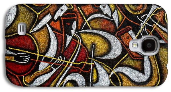Three Quarter Length Galaxy S4 Cases - Sweet Sounds of Jazz Galaxy S4 Case by Leon Zernitsky