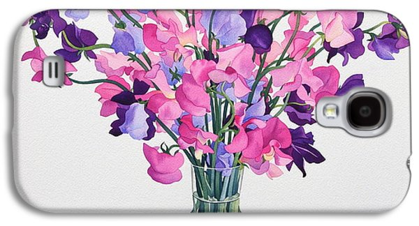 Sweetpeas Galaxy S4 Case by Christopher Ryland