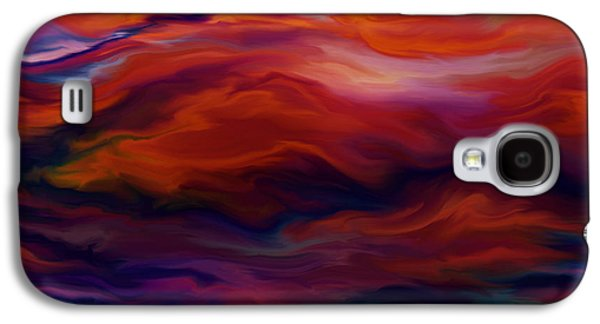 Turbulent Skies Digital Art Galaxy S4 Cases - Swept By Volcanic Sky Galaxy S4 Case by Kyle Wood