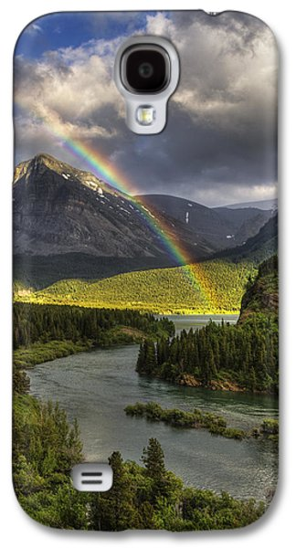 Swiftcurrent River Rainbow Galaxy S4 Case by Mark Kiver