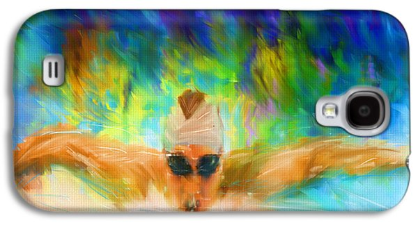Michael Digital Galaxy S4 Cases - Swimming Fast Galaxy S4 Case by Lourry Legarde