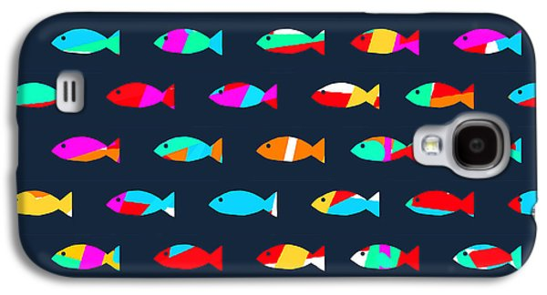 Patterned Galaxy S4 Cases - Swimming with The Fishes Galaxy S4 Case by Budi Kwan