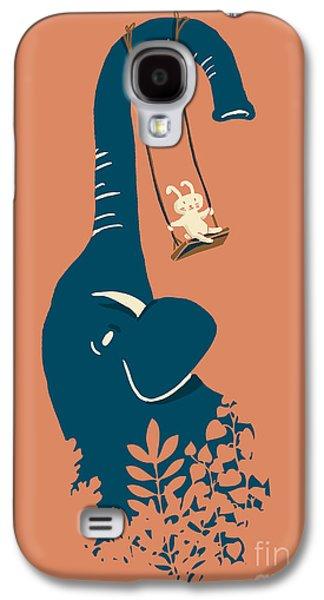 Cute Digital Galaxy S4 Cases - Swing Swing Galaxy S4 Case by Budi Kwan