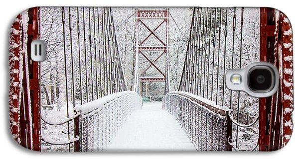 Photography Prints Galaxy S4 Cases - Swinging Bridge Galaxy S4 Case by Benjamin Williamson