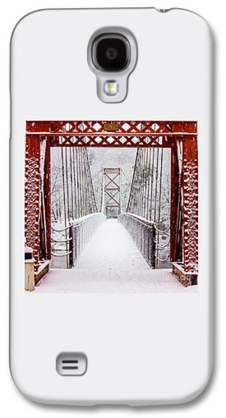 Photography Prints Galaxy S4 Cases - Swinging Bridge Galaxy S4 Case by Benjamin Williamson
