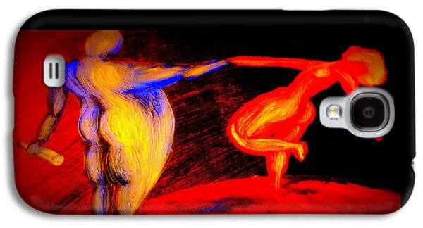 Dance Floor Paintings Galaxy S4 Cases - Swinging The Lady Again Galaxy S4 Case by Hilde Widerberg