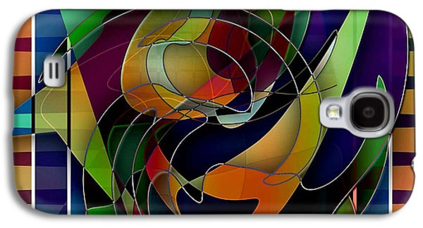 Abstract Digital Drawings Galaxy S4 Cases - Swirl Galaxy S4 Case by Iris Gelbart