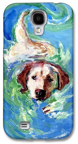 Dog Retrieving Galaxy S4 Cases - Swirl Pool Galaxy S4 Case by Molly Poole