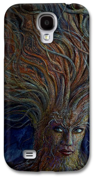 Goddess Paintings Galaxy S4 Cases - Swirling Beauty Galaxy S4 Case by Frank Robert Dixon