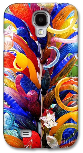 Modern Abstract Glass Art Galaxy S4 Cases - Spirals Galaxy S4 Case by The Art of Alice Terrill