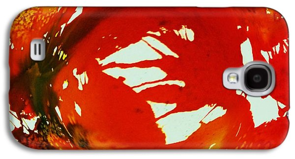 Splashy Art Galaxy S4 Cases - Swirling Crimson Abstract Galaxy S4 Case by Ellen Levinson